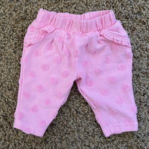 Pink Polka dot pants